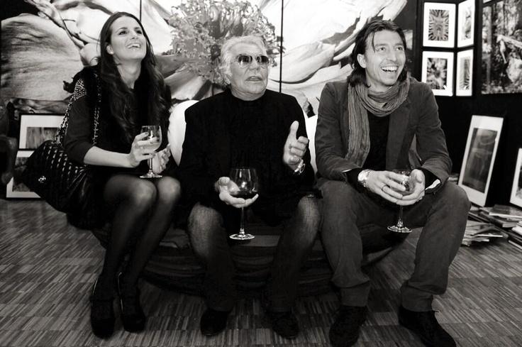 Cristina De Pin, Roberto Cavalli & Riccardo Montolivo