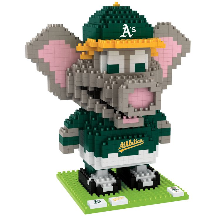MLB Oakland Athletics Stomper Mascot BRXLZ Puzzle