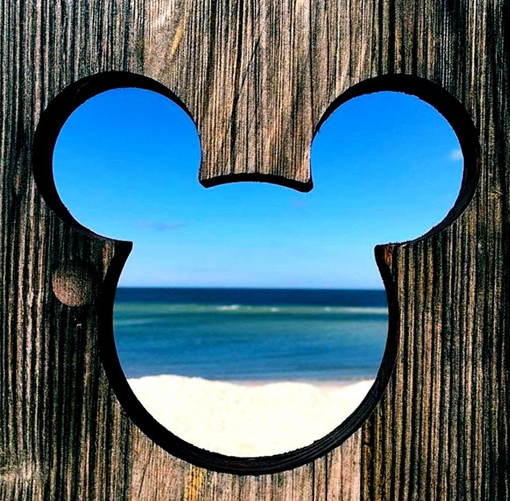 Fabulous idea for a Mickey Mouse tattoo. Driftwood ocean scene Mickey Mouse iconic face ears.