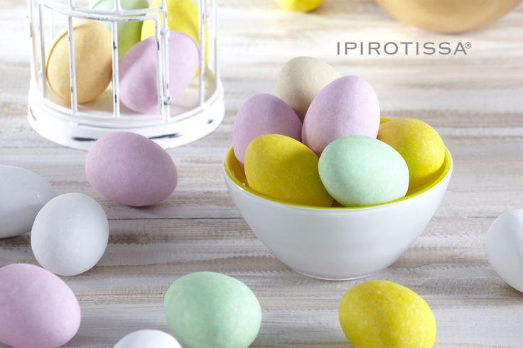 "Chocolate pastel coloured eggs that won't ""break"" that easy..."
