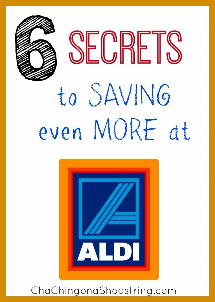 We save so much by shopping at ALDI grocery store - here are six secrets to how we save even more at this low-priced grocery store.  #1 might surprise you!