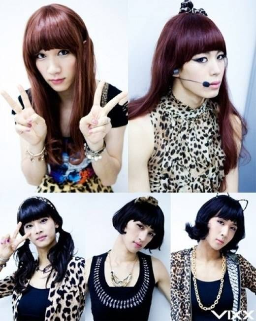 VIXX show you their complete transformation as the 'VIXX Girls' they have completed the cross-dressing requirement.........except Leo. One day Leo, one day.