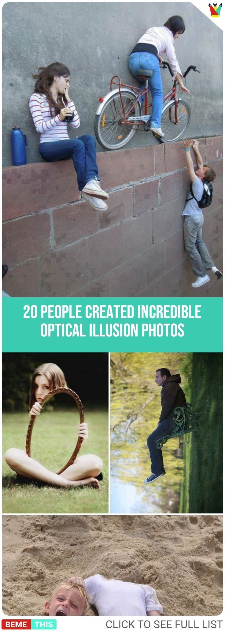 20 Folks Who Use Energy of Perspective and Create Unimaginable Optical Phantasm Pictures