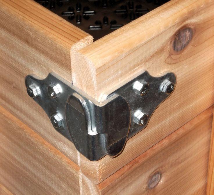 Amazon.com: Trailer Wood Sides Latch Rack Stake Body Gates Corner Brackets by Pack'em Racks - 2 set PK-SB: Home Improvement