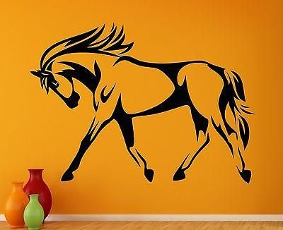 wall decal horse mane mare beautiful hooves tail animal vinyl stickers unique gift ed239
