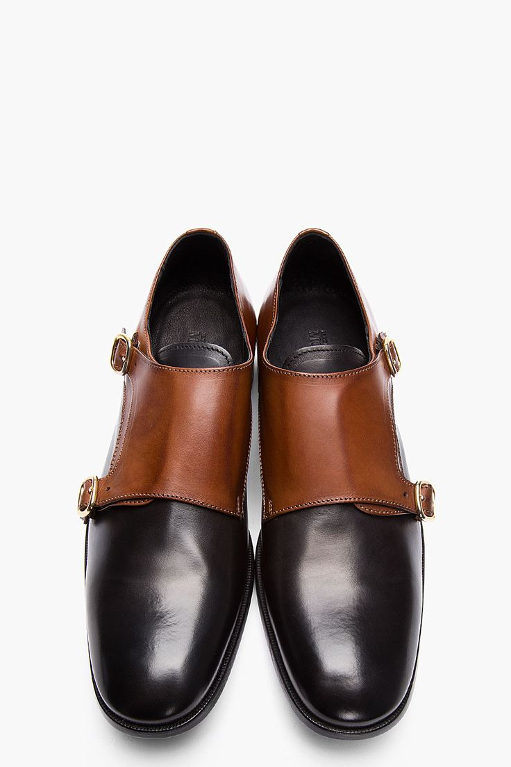 Black Formal Shoes Contrast Sole With Suit