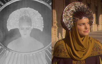Maria (Metropolis) X Rainha Amidala (StarWars)