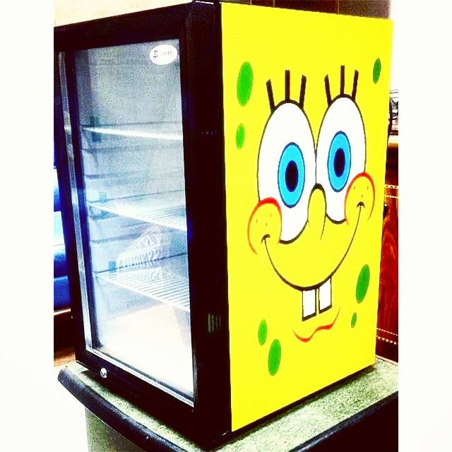 cool blast general trading llc coolblast instagram photos spongebob glass door mini fridge - Glass Door Mini Fridge