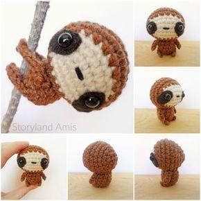 FREE amigurumi crochet pattern-Zippy the Baby Sloth by Storyland Amis