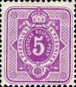 5 Pfennig - Michel Nr. 40 - Stamp Values: * 4€ / Ø 3€