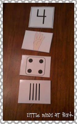 Ziffer_Finger_Würfel_Strich-zuordnung Number Sense Classroom Resources {freebie}