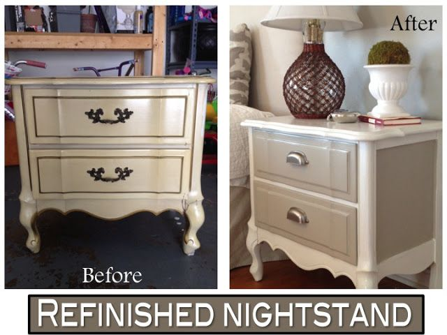 Refinished thrifted nightstand
