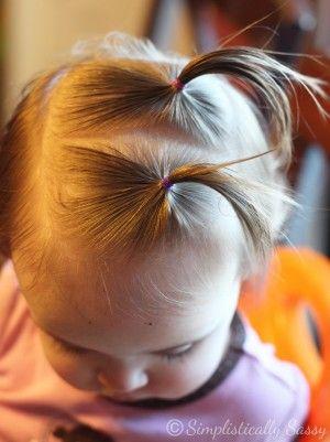 24 easy hair dos for girls frisur kleinkind baby. Black Bedroom Furniture Sets. Home Design Ideas
