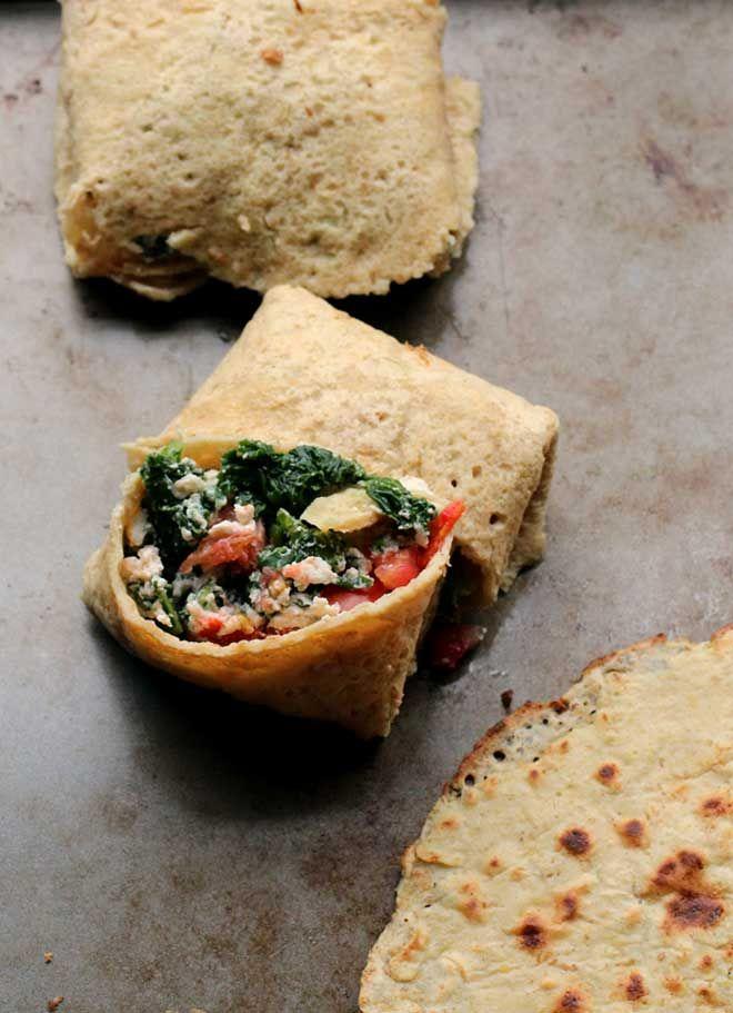 Gluten-free Chickpea Tortillas (made out of garbanzo bean flour) // The Pancake Princess