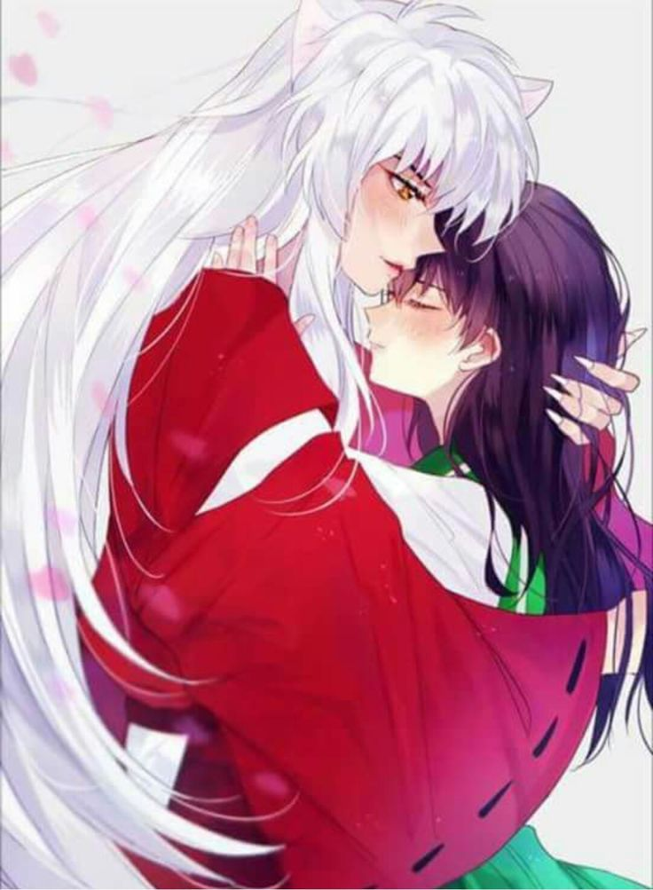Inuyasha and Kagome hug