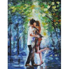 'The Kiss' Wall Art On Canvas