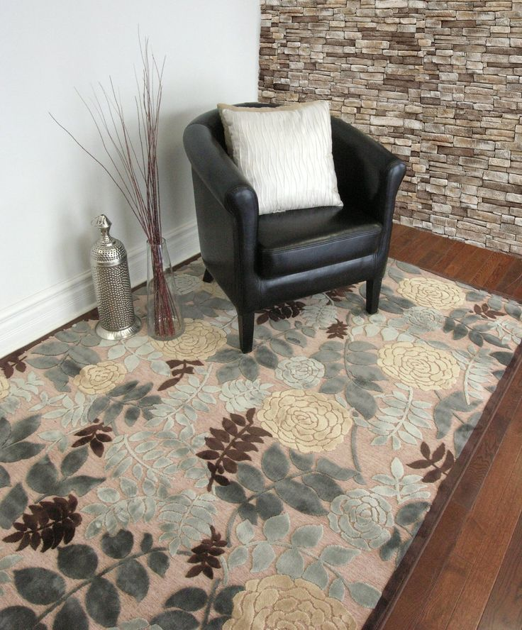 Soft Floral Viscose 3ft2in x 5ft0in Area Rug in Winter: Amazon.ca: Home & Kitchen