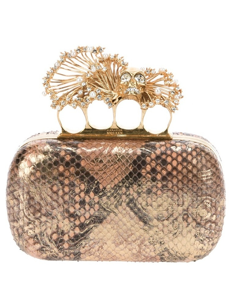 ALEXANDER MCQUEEN 'Knucklebox' clutch    $1,780.35