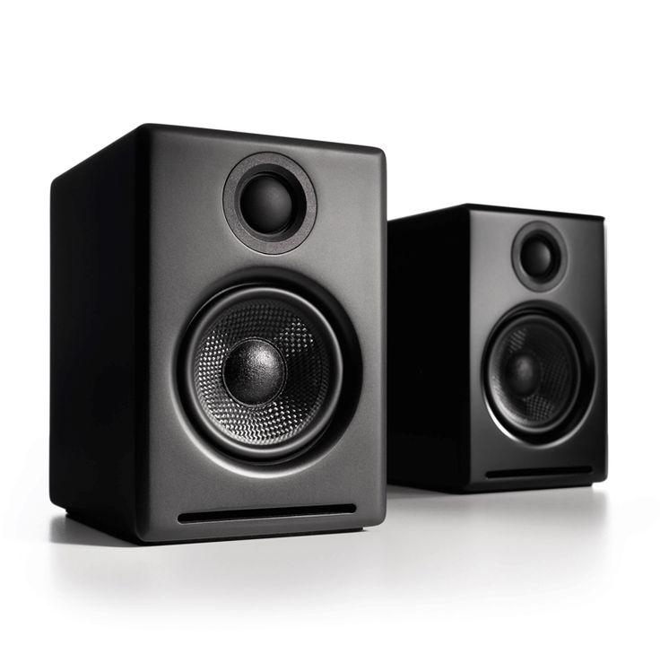 Audioengine 2 (A2+) Premium Powered Desktop Speakers Standar baru untuk suara multimedia dan menutup kesenjangan antara speaker komputer dan audio rumah. Audioengine 2 adalah upgrade yang sempurna untuk komputer anda, iPod, dan semua musik.