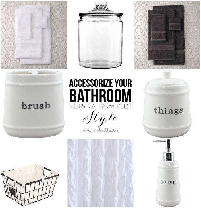 farm house 3 lights for bathroom | Industrial Farmhouse Bathroom Reveal - Cherished Bliss