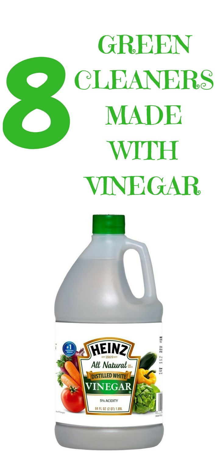 Using green cleaners made with vinegar are effective in home cleaning. These eight ways will keep your home clean and chemical-free!