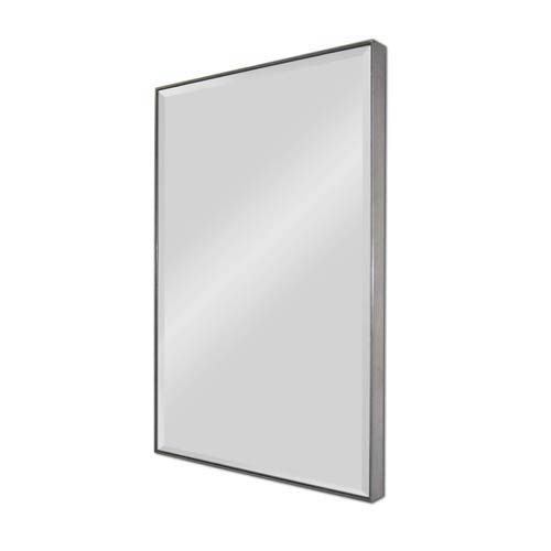 Silver Rectangular Beveled Mirror Ren Wil Wall Mirror Mirrors Home Decor
