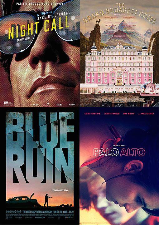 Mejores diseños de carteles de cine en 2014.