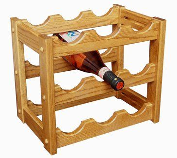 """Amish Made Oak Wine Rack by Superior. $94.00. """" Dimensions: 14""""w x 9 ½""""d x 12""""h"""
