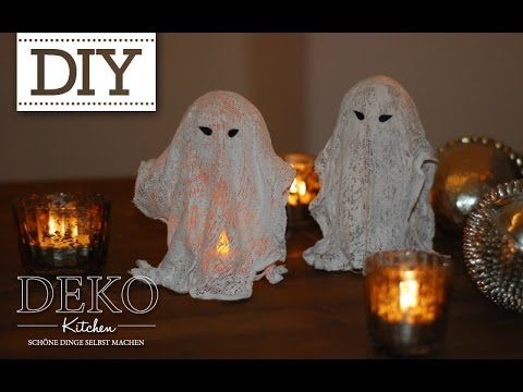 DIY: Coole Deko Halloween Gespenster selber machen | Deko Kitchen - YouTube