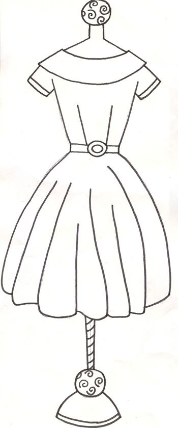 DIY Design And Draw Your Heart Out This Dress Mannequin