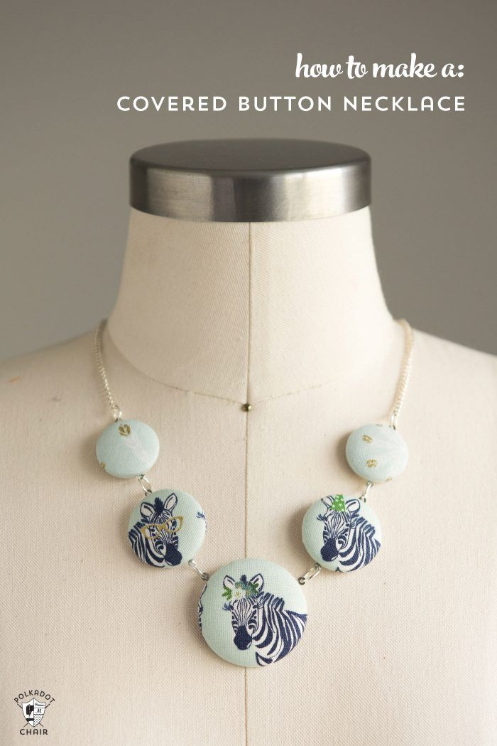 Unique Fabric Covered Button Ideas On Pinterest DIY Hair - Bright diy layered button necklace
