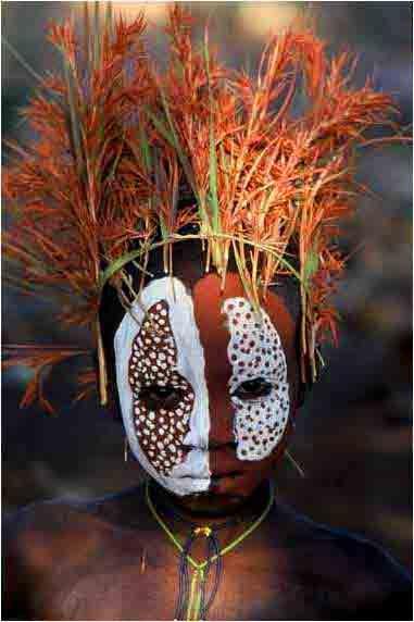 Omo river trib, Etiopia