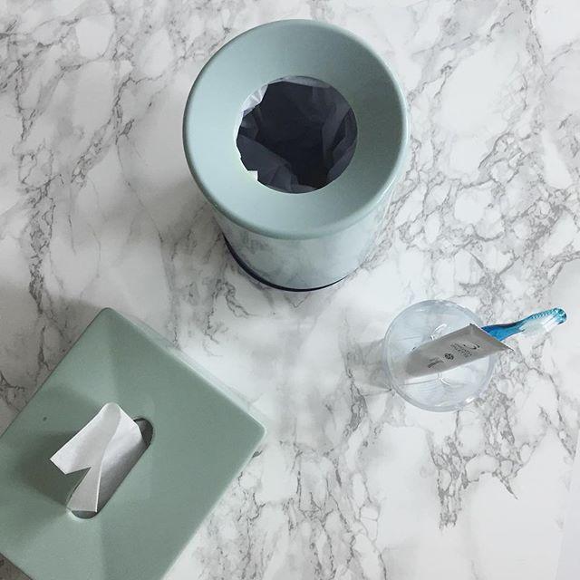Minty bathroom #イデアコ #ideaco #barhroom #tissuecase #interior #objet