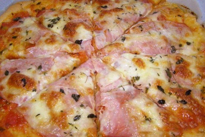 Rychlá pizza z bílého jogurtu | NejRecept.cz