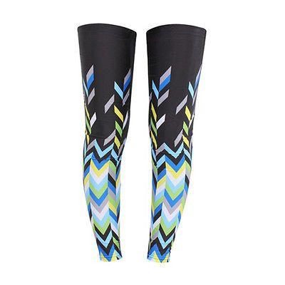 3Pairs Bike Bicycle Leg Warmer Guard Knee Running Sleeves Covers Windproof Green