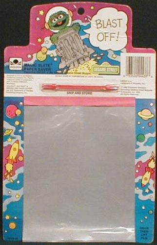 Write/draw. To erase, you'd peel the clear top sheet up.