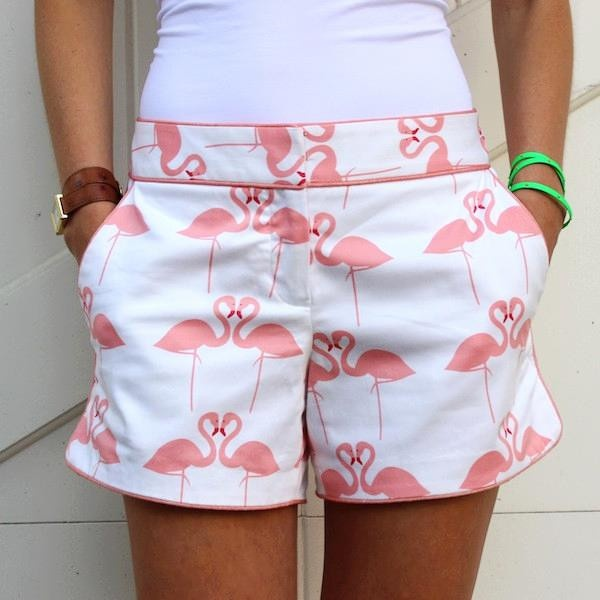 Pink Flamingo Hayden Short - E would look cute in these. Even I would like this style if I wore shorts, maybe not the flamingos though?! @Amber Guernsey @Donna Burton