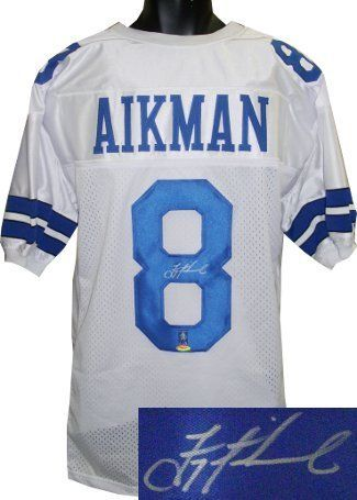 Troy Aikman signed Dallas Cowboys White Prostyle Jersey- Tri-Star Hologram . $362.52. Troy Aikman was the No. 1 overall pick in the 1989 NFL Draft, by the Dallas Cowboys. In Super Bowl XXVII against the Buffalo Bills, Aikman led the Cowboys to a blowout victory, 52-17. Aikman was named Super Bowl MVP after completing 22-of-30 passes for 273 yards and 4 TDs. He also won SB XXVIII and SB XXX and was elected into the Pro Football Hall of Fame in 2006. Troy Aikman has hand au...