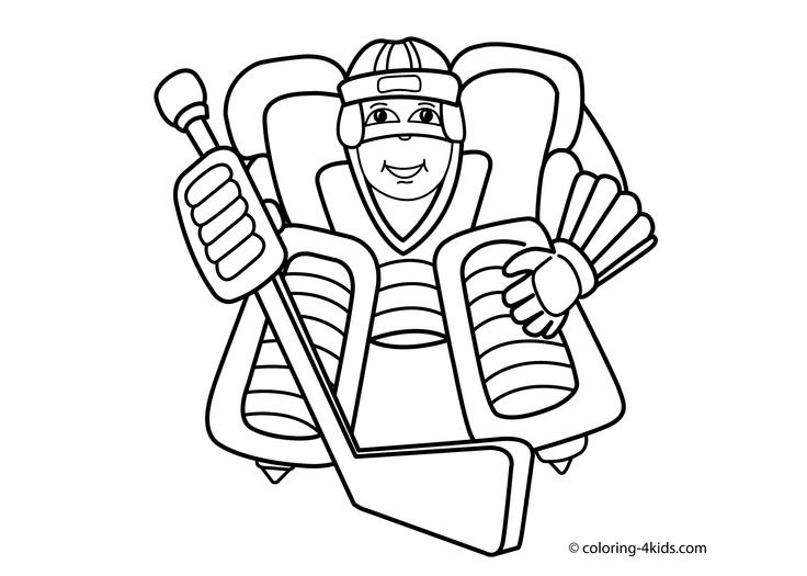 hockey coloring pages for kids - photo#31