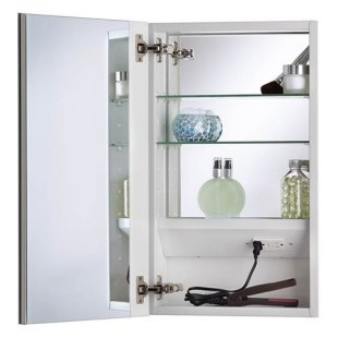 Mirrored Medicine Cabinets With Interior Electrical Outlet