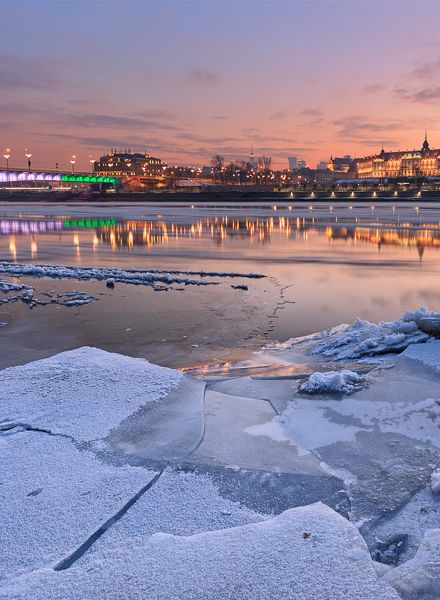 Warsaw Poland in Winter 2017