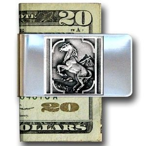"""Checkout our #LicensedGear products FREE SHIPPING + 10% OFF Coupon Code """"Official"""" Large Money Clip - Rearing Horse - Officially licensed  product Stainless steel money clip Strong clip securely holds your cash Makes a great gift for an avid sports fan Money Clips emblem - Price: $16.00. Buy now at https://officiallylicensedgear.com/large-money-clip-rearing-horse-mcl10"""