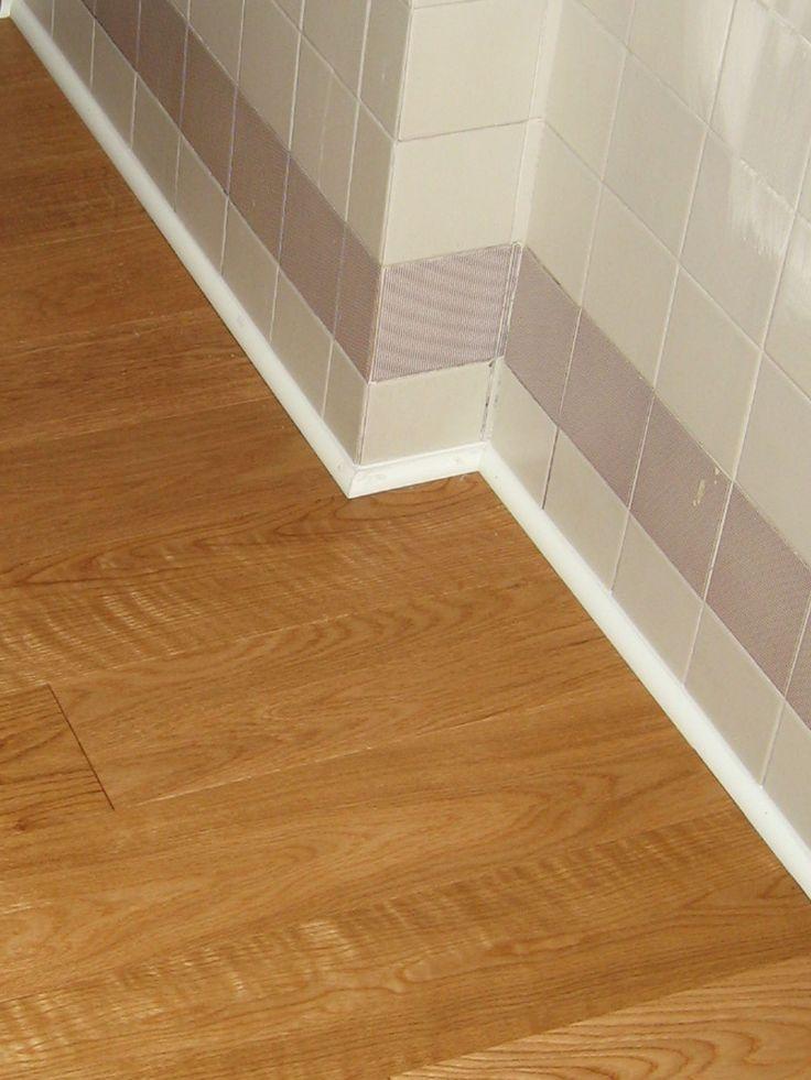 Ristrutturazione appartamento Fontane (TV)  Rivestimento pavimento originale in piastrelle con pavimento in legno.