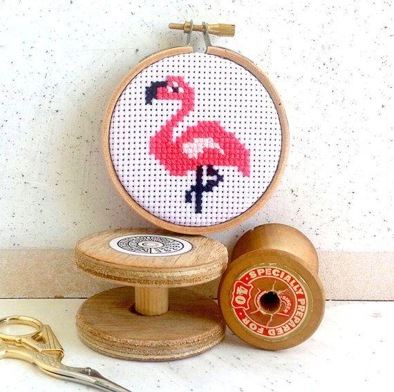 Funny cross stitch kit flamingo cross stitch by TheMakeArcade