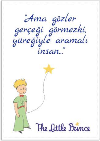 küçük prens quote 2 Kendin Tasarla - Poster