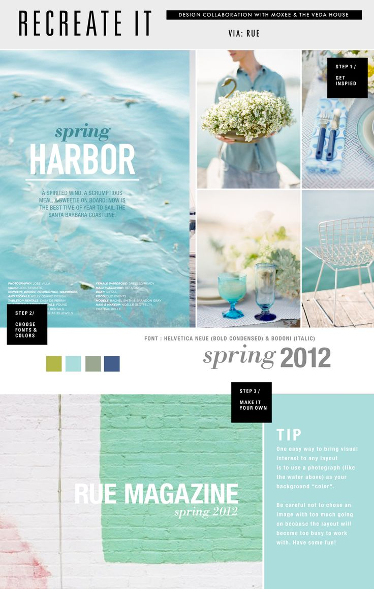 Recreate It collaboration series by veda house via Breanna Rose blog: Colour, Color Palettes, Color Yum, Chosen Color, Green, Brochure, Moodboards