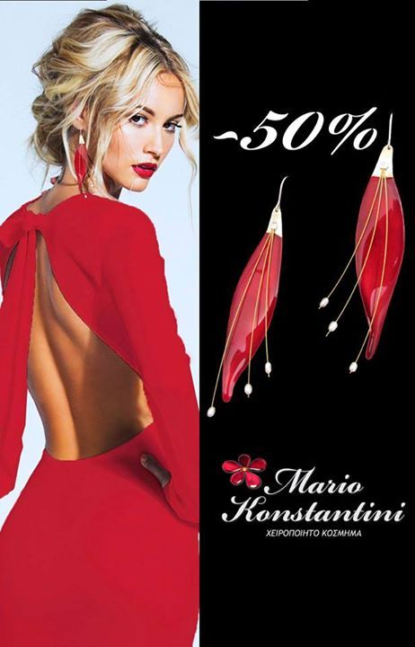 #fylla #red #dress #woman #earrings