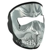 Check out Gnashing Teeth Skull Neoprene Face Mask with Microfleece Lining on LeatherUp.com!