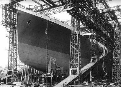Naufrage du Titanic, le vaisseau en construction