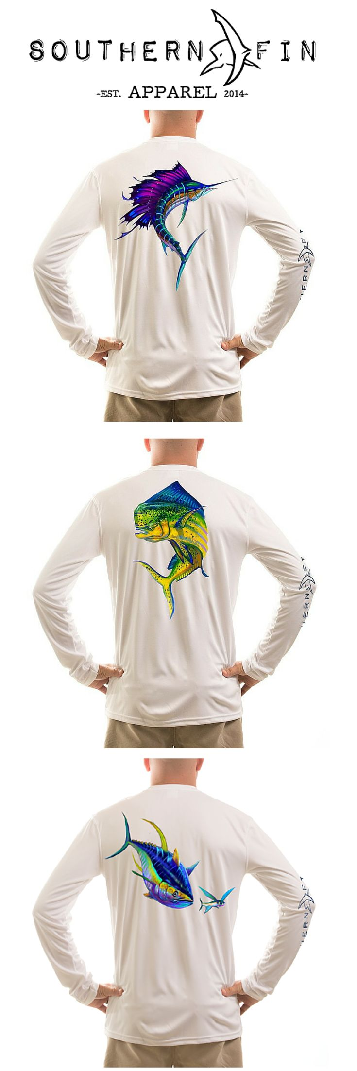 Need a #FATHERSDAY Gift? Look no further!  100% Microfiber Performance Long Sleeve Fishing Shirts. UPF 50+ and Moisture Control Technology. High quality fishing apparel for serious anglers.